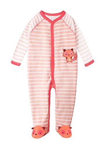 EOZY Mignon Combinaison Grenouillère Pyjama Bébé En Coton Motif Animal Rose#3