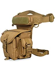 Buwico® cintura Pack táctica deporte al aire libre viaje bolsa de pierna especial impermeable gota utilidad bolsa de muslo para senderismo, pesca