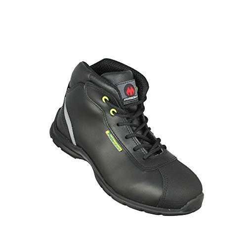 Aimont PL04 O2 FO SRC Sicherheitsschuhe Arbeitsschuhe Trekkingschuhe hoch Schwarz, Größe:38 EU