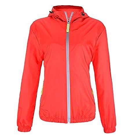 Lydreewam Damen Outdoor Funktions Regenjacke Freizeit Kapuzenjacke Wasserdicht Regenmantel für Sport, Fahrrad,Laufen, Joggen