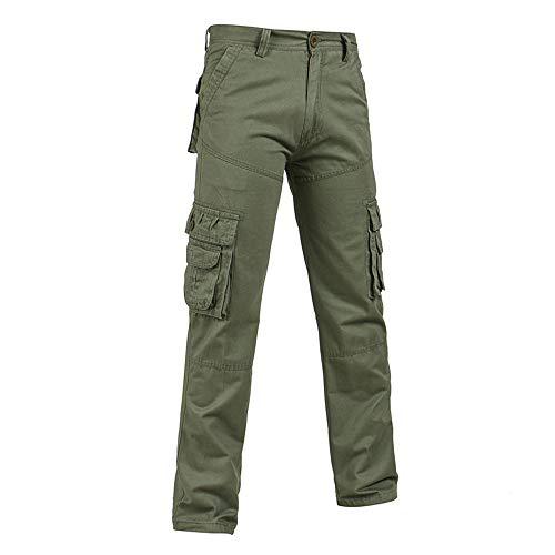Tasche Mit Klappe Twill-hose (Celucke Herren Cargohosen Militär Army Hosen mit Seitentaschen,Männer Freizeithose Rangerhose Chinos Feldhose)