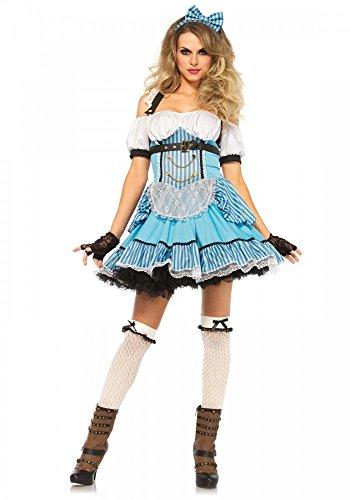 shoperama Rebel Miss Alice im Wunderland Damen-Kostüm von Leg Avenue, Größe:M