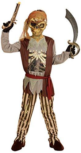 Widmann wdm03976-Kostüm für Kinder Pirat Schiff der Geister (128cm/5-7Jahre), braun, - Geisterschiff Pirat Kind Kostüm
