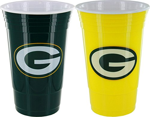 Memory Company Green Bay Packers Home/Away Farbe Kunststoff Cup Set