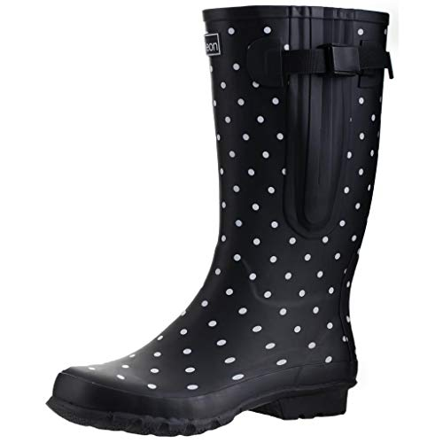 Jileon Wide Calf Durable Rubber Wellies for Women - up to 47cm Calf - Standard Foot Width