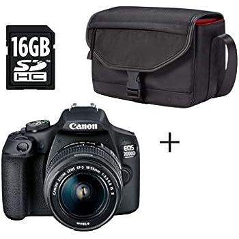 Canon EOS 2000D BK 18-55 IS + SB130 +16GB EU26 Juego de cámara SLR ...