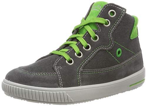 Superfit Baby Jungen Moppy Sneaker, Grau/Grün 20, 19 EU - Grau Und Sneakers Grün