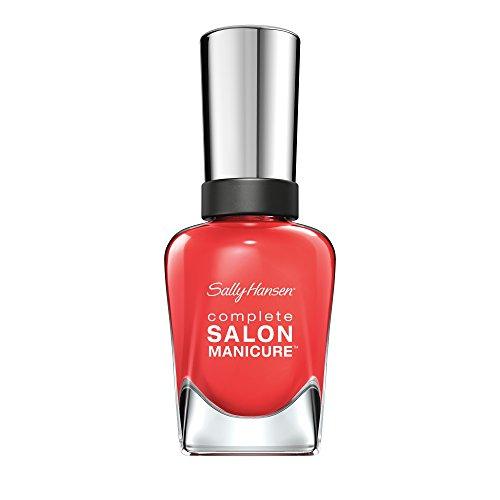 Sally Hansen Complete Salon Manicure Nagellack, Farbe 560, Kook A Mango, leuchtendes rot, 1er Pack...