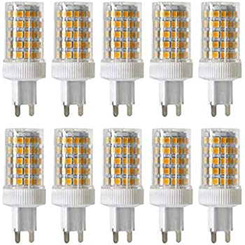 ONLT 10PCS G9 10W Regulable Bombilla LED,6000K 950 LM 86 X 2835 SMD,