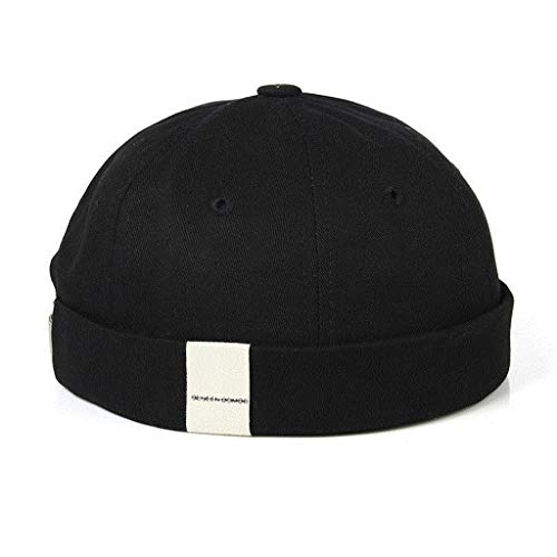 DYV Einstellbare French Brimless Hat Mens Vogue Retro Schädel Kappe Sailor Cap Biker Beanie Retro Sonnenhüte Vintage Unisex Harajuku -