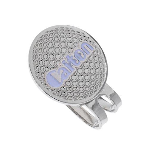 MagiDeal Legierung Golf Hut Golf Cap Clip mit Magnetischem Ballmarker, Einzigartiges Design, verschiedene Muster - Silber Golfball