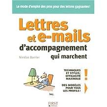 LETTRES E-MAILS ACCOMP MARCHE