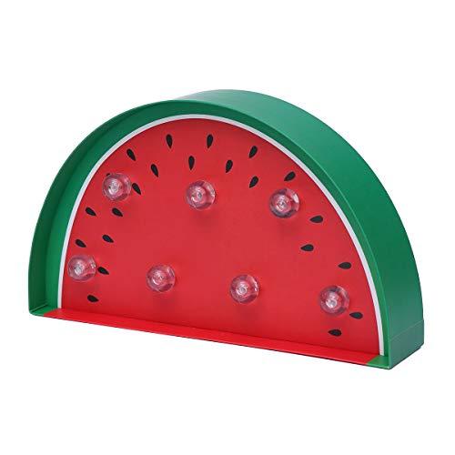 Uonlytech Ziemlich Bunte Wassermelone LED Lichterketten Lampe Dekoration für Weihnachten Halloween Festivals Kinderzimmer Party Neues Jahr (Wassermelone) (Neue Jahr Partys)