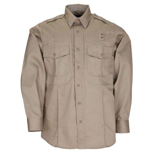 5.11Tactical # 72345Herren PDU Long Sleeve Twill Klasse B Shirt XXL Silver Tan (Twill Shirt Tan)