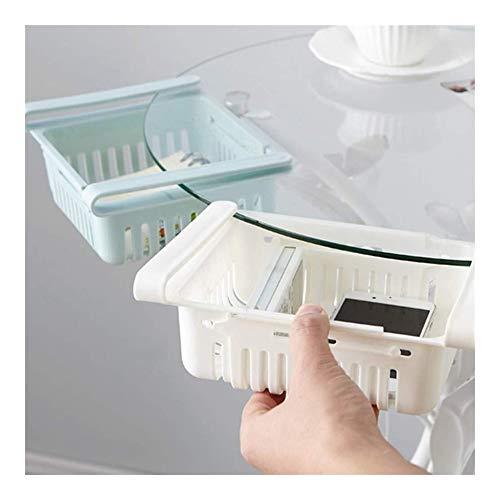 WJGJ Kühlschrank Schublade Organizer,Kühlschrank Pull-Out-Bin, for Gefrierschrank, Küche, Arbeitsplatten, Schränke Geeignet for Die Meisten Kühlschränke Multi-Funktions-Schublade Platzsparend Shelf -