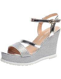 Zapatos rosas de verano góticos para mujer 7vn0O
