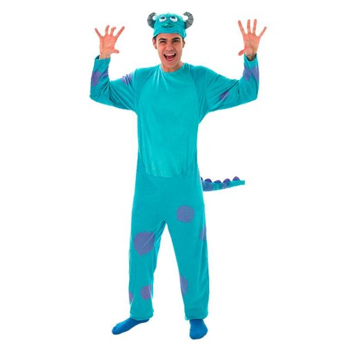 Disney Monster University Herren Kostüm Sully zu Karneval (Erwachsene Kostüme Sulley)