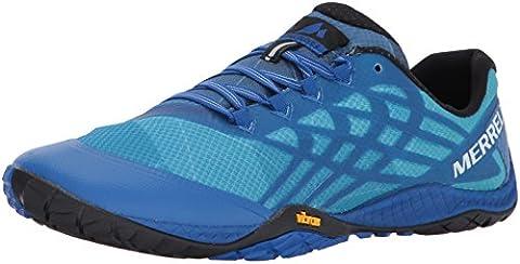 Merrell Glove 4, Chaussures de Trail Homme, Bleu (Nautical) , 44 EU (9.5 UK)