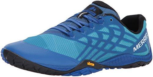 Merrell Trail Glove 4, Herren Traillaufschuhe, Blau (Nautical), 40 EU (6.5 UK) (Kunstleder Blau, 6.5)