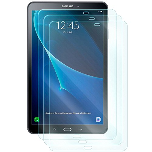 dreiF 3X Display Schutzglas für Samsung Galaxy TAB A 10.1 (SM-T585) (2016)   Härtegrad 9H   Kratzfest + Abwaschbar   Sensible Touchfunktion bleibt erhalten