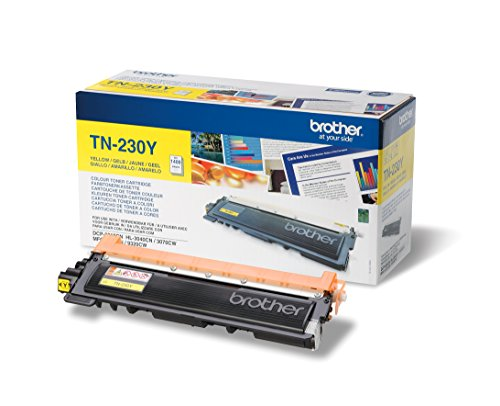 Brother Original Tonerkassette TN-230Y gelb (für Brother DCP-9010CN, MFC-9120CN, HL-3040CN, HL-3070CW, MFC-9320CW) -