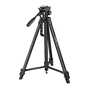 DIGITEK DTR 550 LW Tripod for DSLR, Camera |Operating Height: 5.57 Feet | Load Capacity: 5kg | Portable Lightweight Aluminum Tripod with 360 Degree Ball Head | Case Included (Black) (DTR 550LW)
