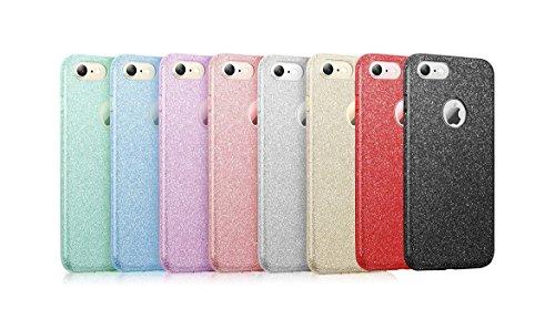 iPhone 7 Hülle, Vanki® Luxus TPU+PC Hardcase Glitzer Schutzhülle Bling Hardcase Handyhülle Etui Case Für iPhone 7 (4,7 Zoll) (iPhone 7, golden) Golden