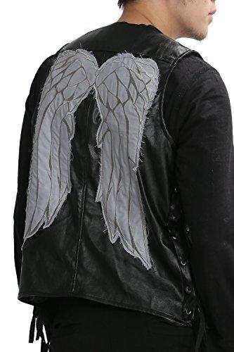 ValuePack Herren Engels Flügel Leder Weste Schwarz Erwachsenes Art und Weise Jacke Fanartikel Cosplay Kostüm Kleider