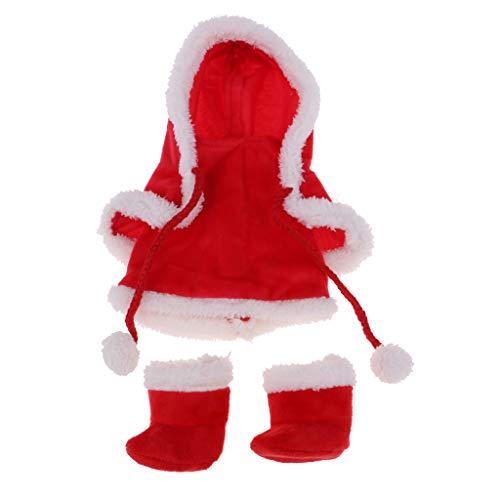 Perfeclan Niedliche Babypuppe Herbst Kleiddung - Mini Kleid, Strampler, Overall, Rock, Kapuzemantel, Umhang, Hose - Bekleidung für 25cm Mellchan Puppen - # 1