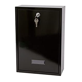 Sterling Forth Rear Access Steel Postbox- Black