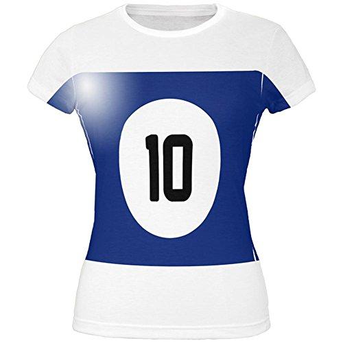 Halloween Billard Pool Ball zehn Kostüm Junioren T Shirt Multicoloured
