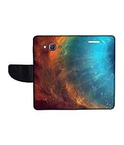 KolorEdge Printed Flip Cover For Samsung Galaxy On7 Multicolor - (1479-55KeMLogo11482SamOn7)