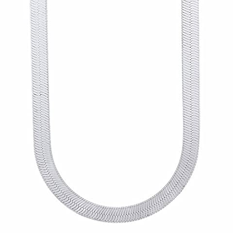 5.5mm Solid 925 Sterling Silver Italian Crafted Herringbone Chain, 50 cm