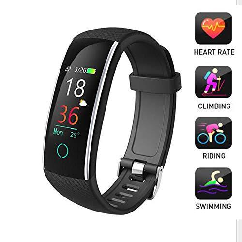 LMtt Fitness Tracker, Bracciale Intelligente, Fitness Tracker frequenza cardiaca Sport Orologio Relogio MP3 Smart Braccialetto Smart Band PK Mi Band 3 PK Honor Band 4,Black