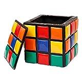 ROSEEH Encantador Creativo De Rubik Cambiar Zapatos Almacenamiento Corteza Pequeño Banco,Small