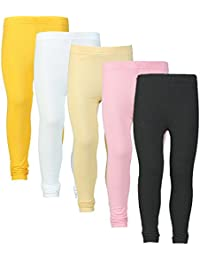 Plain Designer Pure 100% Summer Leggings For Summers With Different 5 Variety Of Colours (Combo Of 5 Leggings...