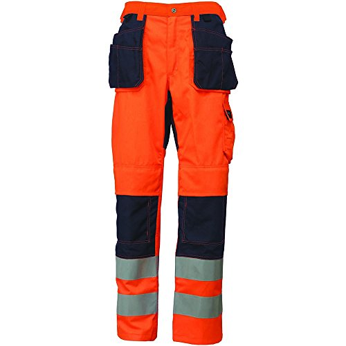 HELLY HANSEN 76494_ 265-C162TAMAñO C162BRIDGEWATER CONSTRUCCION HI-VIS PANTALONES–NARANJA/AZUL MARINO