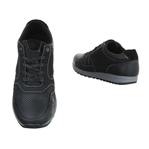 Negros diseño Cordones Hombre Con Zapatos 059133 Ital BFqwPCC