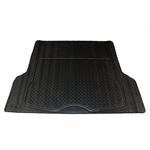XtremeAuto® Universal Fit Car Boot Mat in Heavy Duty Waterproof Rubber INCLUDES Sticker