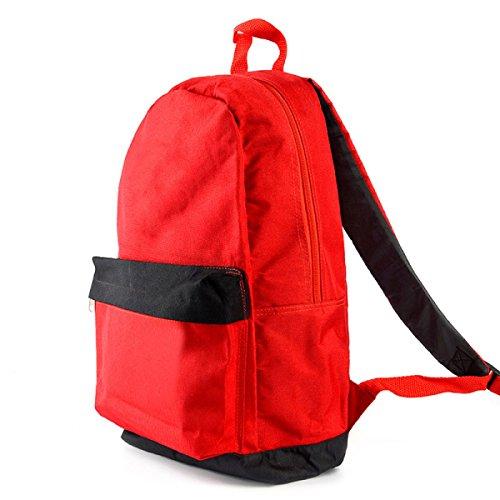 Ogert Unisex Tasche Lässig Im Freien Reiserucksack Feste Farbe Red