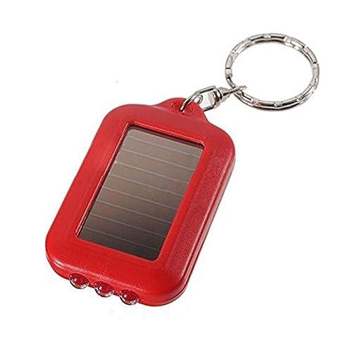 BESTIM INCUK Mini Solar Power 3-LED Light Keychain Keyring Torch Flashlight