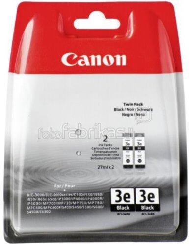Canon Bci-24 Black Tinte (Canon BCI-3e BL Original Tintenpatronen, Doppelpack 2x 30ml schwarz)