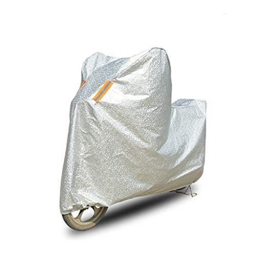 LYZ Motorradabdeckung Fahrrad-Aluminiumfolie-Kleidung, Regen-Lichtschutz-Staubschutz-elektrische Fahrrad-Fahrrad-Abdeckungs-Auto-Kleidungs-Auto-Abdeckung (Color : Silver, Size : XL)