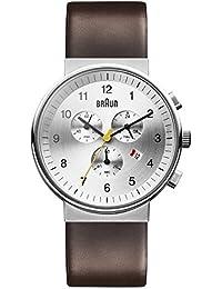 Braun Unisex-Armbanduhr BN0035SLBRG Chronograph Quarz Leder BN0035SLBRG