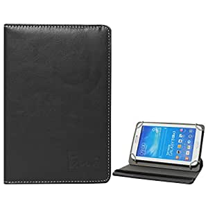 DMG Universal 360 Swivel Stand Book Cover Case for Iball Slide 7334q - 10 (Black)