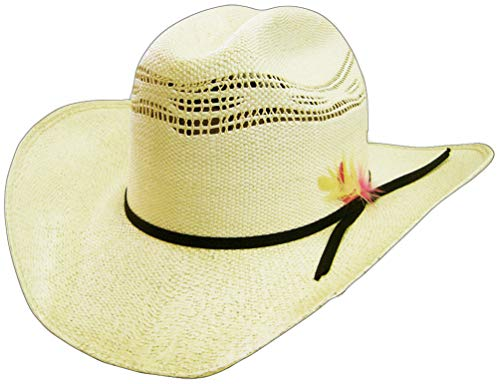 51933b45f Modestone 6X Feather Bangora Straw Chapeaux Cowboy Off-White