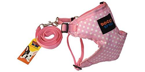 Doggy Style Leine Hundegeschirr Hunde (Dot Modell), L, Rose