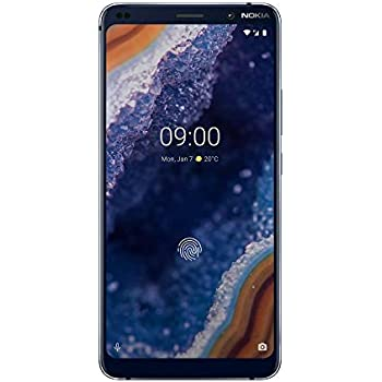 44e50072 Nokia 9 PureView 5.99-Inch Android 9 Pie UK SIM-Free Smartphone with 6GB