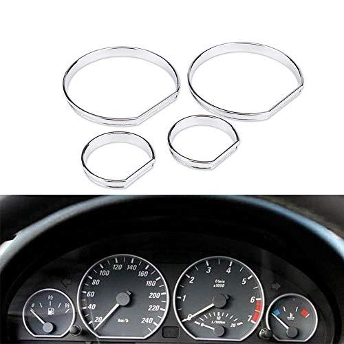 Car Dashboard Frame - Car Dashboard cruscotto quadrante decorazione cornice, quadrante Anelli Trim, per BMW E46, 4Pcs