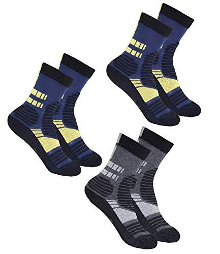 EveryKid Ewers 3er Pack Jungensocken Sparpack Markensocken Thermosocken Socken Kinder (EW-201068-W18-JU1-1121-1121-3700-27/30) in Tinte-Gelb-Tinte Gelb-Anthrazit, Größe 27/30 inkl Fashionguide